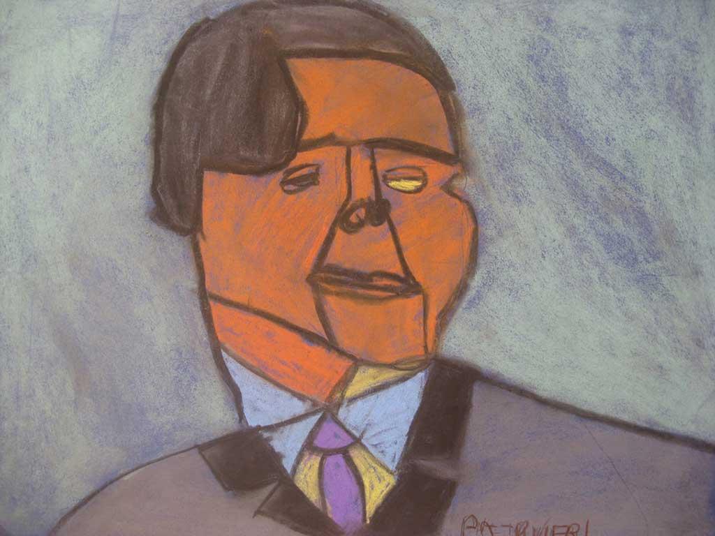 Paltrinieri-C.-Berlusconi-2009-gessetti-65-x-50-cm