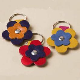 Portachiavi doppio fiore