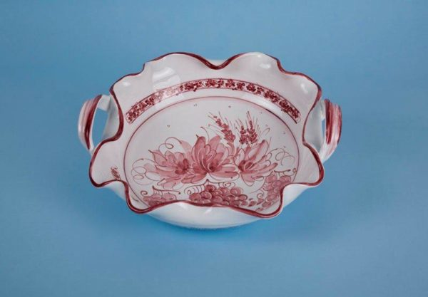 Centrotavola Ricciolona d.35cm ceramica romagnola