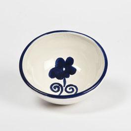 Ciotola pinzimonio ceramica decoro artigianale