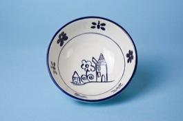 Insalatiera ceramica decoro artigianale d.20cm
