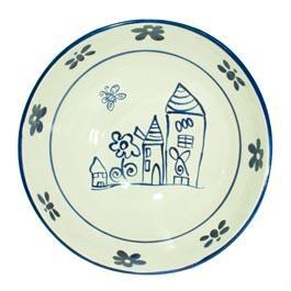 Insalatiera ceramica decoro artigianale d.30cm