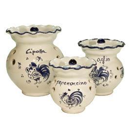 Porta aglio ceramica romagnola