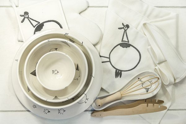 Set ceramica gallina