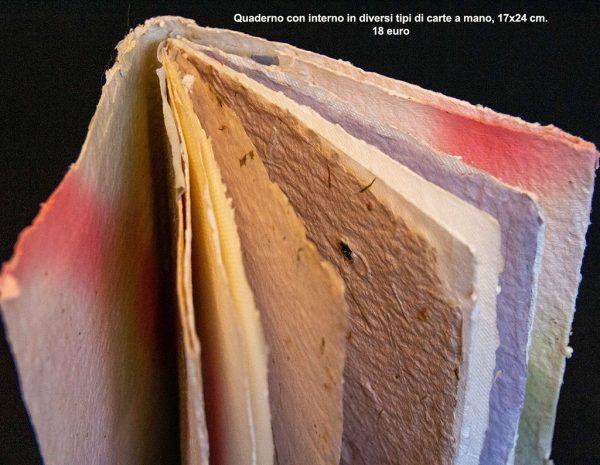 Quaderno con diversi tipi di carte