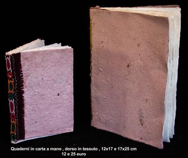 Quaderno in carta e tessuto