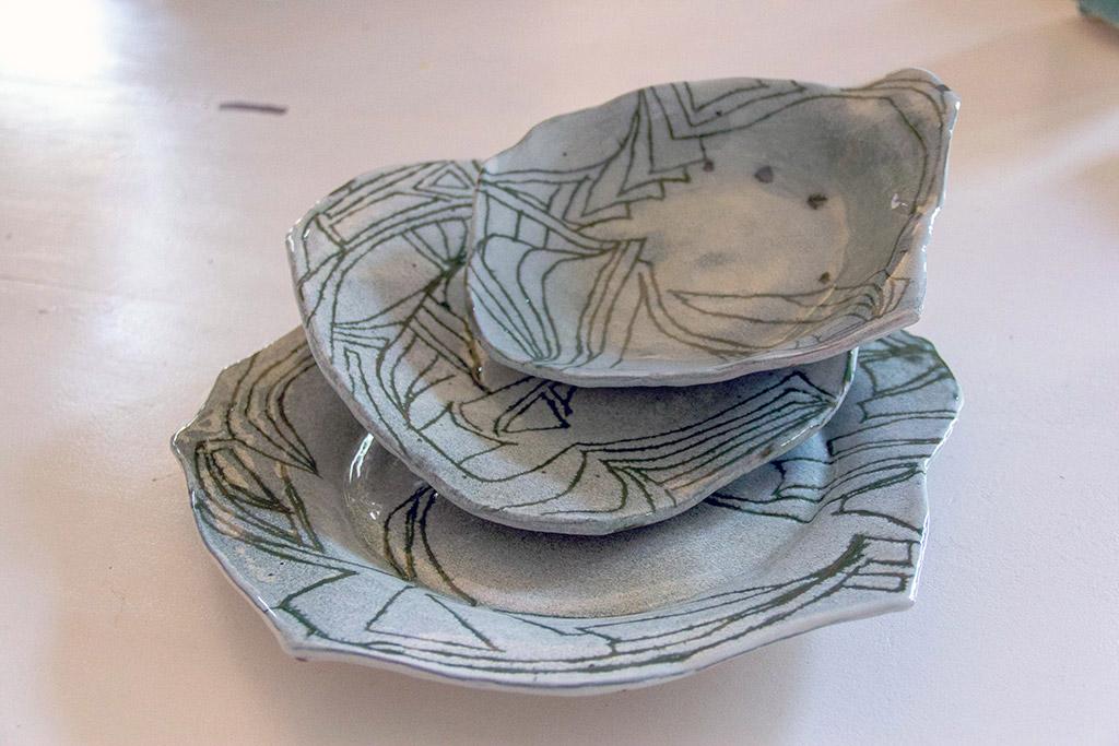Set piatti verdi - Banco Artigiano delle Arti e dei Mestieri