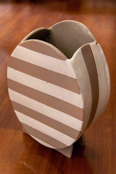 Vaso ceramica righe